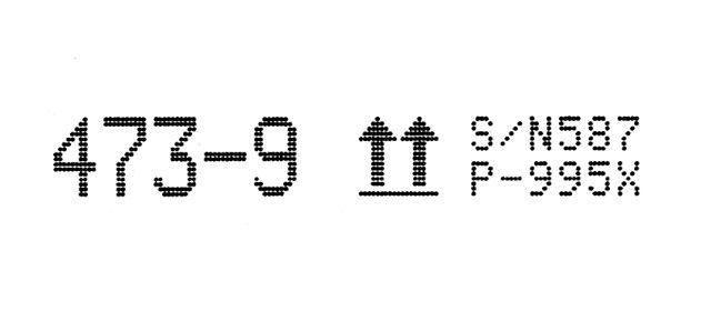 бесконтактная крупносимвольная маркировка REA JET DOD на 16 сопел
